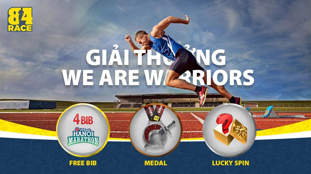 We Are Warriors Challenge - Giải thưởng cho những nhà vô địch