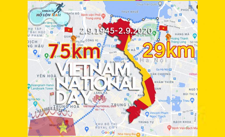 Chạy mừng 75 năm Quốc Khánh Việt Nam ????????
