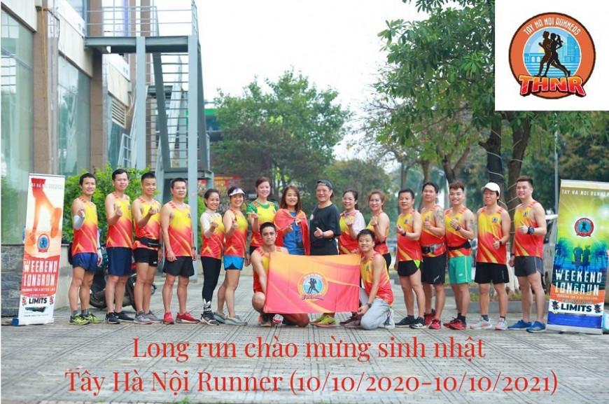 Long run cuối tuần chào mừng sinh nhật Tây Hà Nội Runner