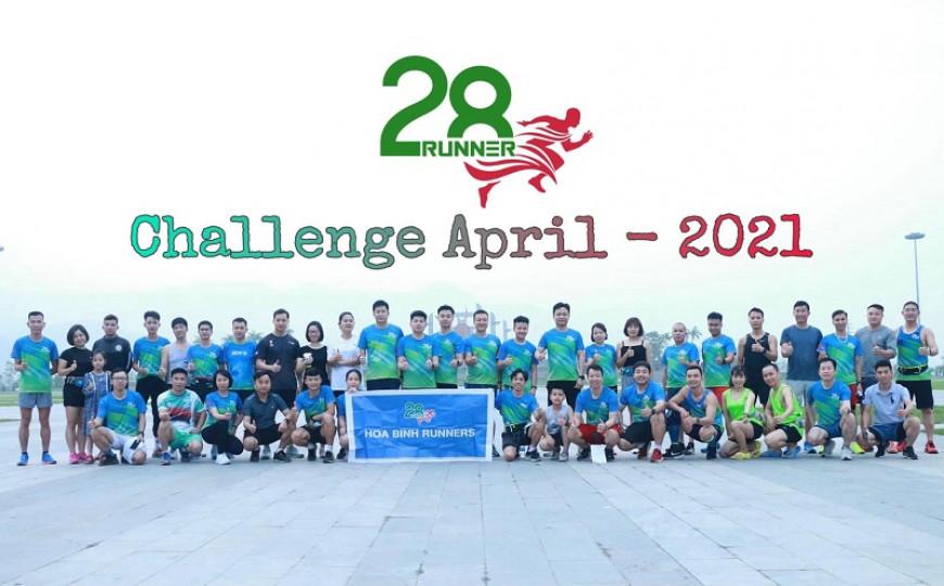 Hòa Bình Runners - Challenge tháng 4