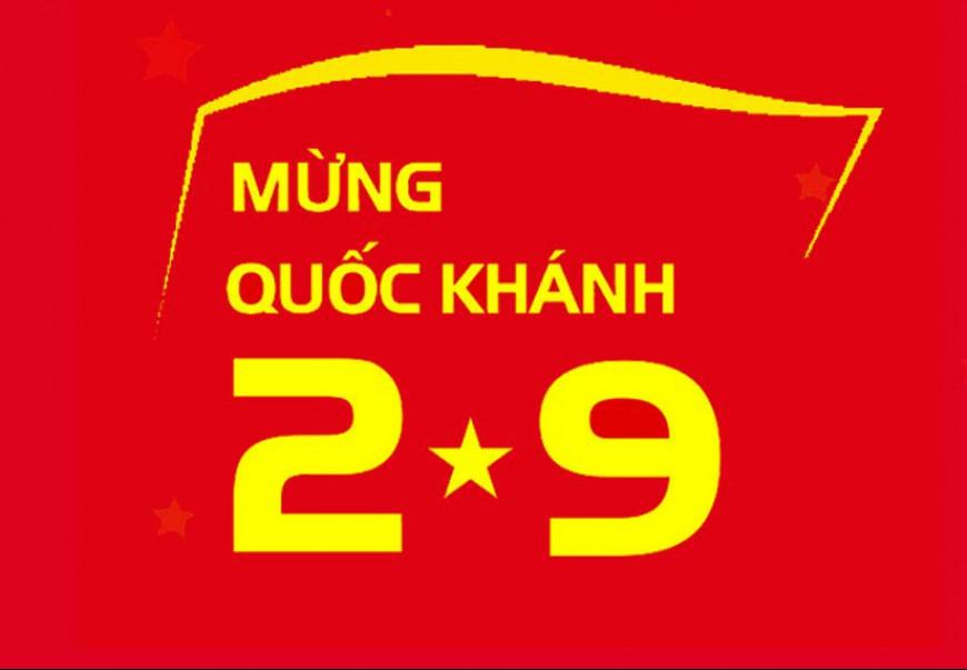 Mừng ngày Quốc khánh Nước Cộng hòa xã hội chủ nghĩa Việt Nam