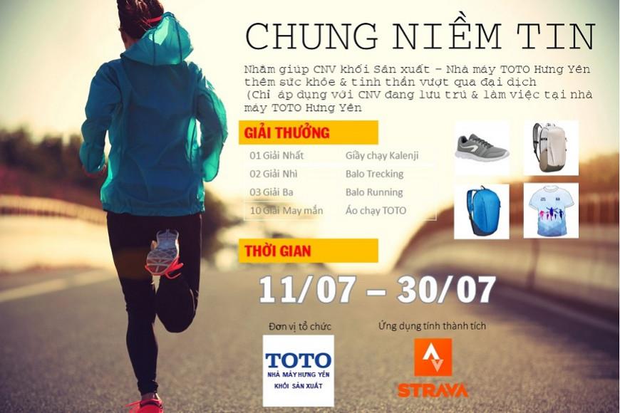 Thử thách 21 ngày chạy bộ - CHUNG NIỀM TIN