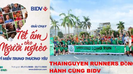 THAINGUYEN Runners đồng hành cùng BIDV - Tết ấm cho người nghèo 2020