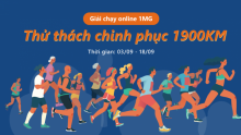 GIẢI CHẠY ONLINE ONE MOUNT GROUP - THỬ THÁCH CHINH PHỤC 1900KM
