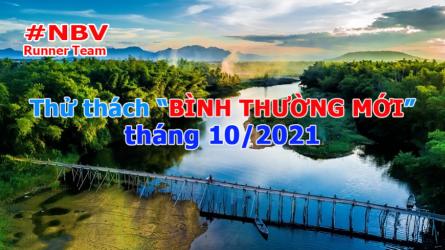 NBV Runner với thử thách BÌNH THƯỜNG MỚI tháng 10-2021 mở rộng
