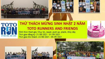 MỪNG SINH NHẬT 2 NĂM TOTO RUNNERS AND FRIENDS