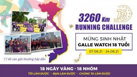 3260 KM Running Challenge - Mừng GALLE WATCH 18 tuổi