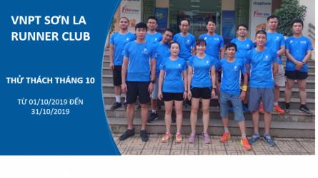 VNPT Sơn La Runner Club - Thử thách tháng 10-2019